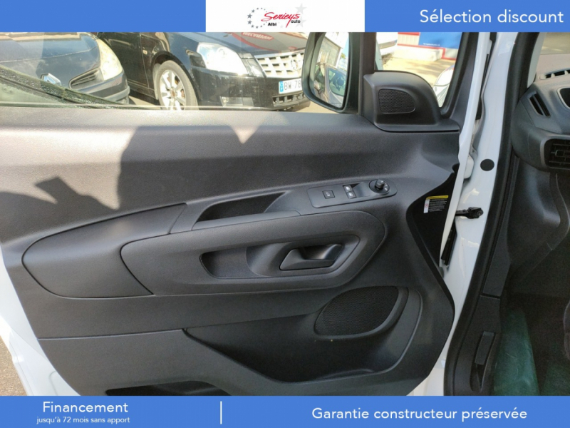 Photo 3 de l'offre de PEUGEOT PARTNER FGN PREMIUM BLUEHDI 100 ANTI AV à 19880€ chez Garage Serieys Auto