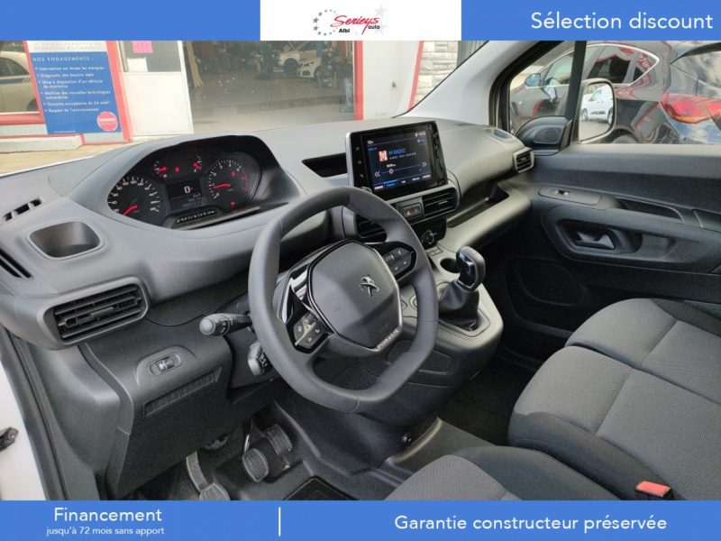 Photo 3 de l'offre de PEUGEOT PARTNER FGN PREMIUM BLUEHDI 100 3PL RADAR à 18800€ chez Garage Serieys Auto